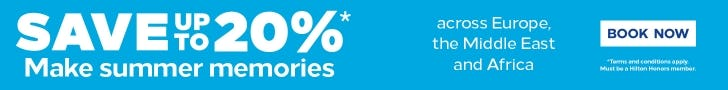 Hilton Dream Away offer Save 20%